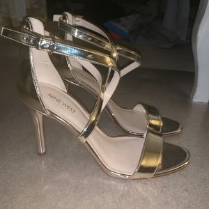 Nine West Gold Heels